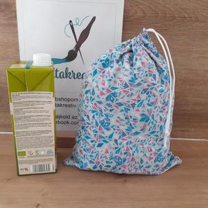 Kék kaleidoszkóp bevásárlózsák - bevásárló szatyor, vászon zsák, öko zacskó, gyümölcsös, zöldséges, Táska & Tok, Bevásárlás & Shopper táska, Zöldség/Gyümölcs zsák, Szeretnéd csökkenteni a hulladékot amit termelsz? Itt a megoldás! Helyettesíti az eldobható műanyag ..., Meska