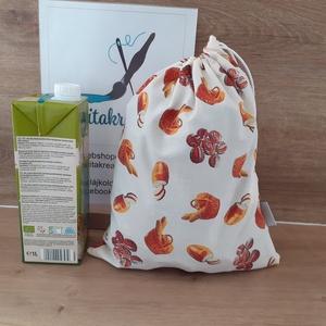 Pékség bevásárlózsák - bevásárló szatyor, vászon zsák, öko zacskó, gyümölcsös, zöldséges, Táska & Tok, Bevásárlás & Shopper táska, Zöldség/Gyümölcs zsák, Szeretnéd csökkenteni a hulladékot amit termelsz? Itt a megoldás! Helyettesíti az eldobható műanyag ..., Meska