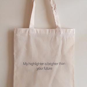 Designer vászon szatyor, Táska, Táska, Divat & Szépség, Szatyor, NoWaste, Fotó, grafika, rajz, illusztráció, A vászon szatyor mérete kb 40x35 cm. \n\nThe size of the bag is cca 40x35 cm. \n\nFANKO design\n, Meska