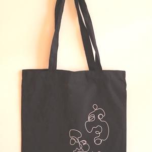 Designer vászon szatyor (Fejek 1), Táska, Divat & Szépség, Táska, Szatyor, NoWaste, Fotó, grafika, rajz, illusztráció, A vászon szatyor mérete 40x35 cm.\n\nThe size of the bag is cca 40x35 cm.\n\nFANKO design\n\n, Meska
