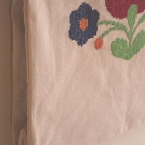 Kézzel himzett designer vászon szatyor (Ritasflower) - Meska.hu