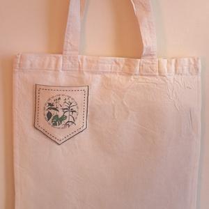 Zsebes szatyor designer mintával, Táska, Divat & Szépség, Táska, Szatyor, NoWaste, Fotó, grafika, rajz, illusztráció, A Vászon szatyor mérete: 40X35 cm. \n\nThe shopping bag size is 40x35 cm. \n\nFANKO design\n\n, Meska