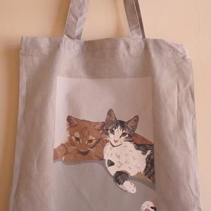 Vászon szatyor designer mintával, Táska, Divat & Szépség, Táska, Szatyor, NoWaste, Fotó, grafika, rajz, illusztráció, A Vászon szatyor mérete: 40X35 cm. \n\nThe shopping bag size is 40x35 cm. \n\nFANKO design\n, Meska