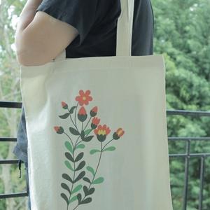Vászon szatyor, Táska, Táska, Divat & Szépség, Szatyor, NoWaste, Fotó, grafika, rajz, illusztráció, A vászon szatyor mérete 40X35 cm.\n\nThe size of the bag is cca 40x35 cm. , Meska