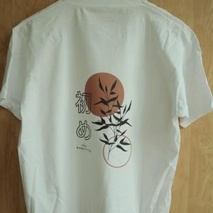 Designer póló - Japán: A kezdet, Ruha & Divat, Férfi ruha, Póló, Festett tárgyak, Mindenmás, Fehér póló. Különböző méretekben.\nA minta a póló elülső oldalára van felnyomva.\n\n, Meska