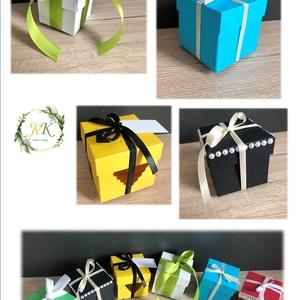 Ajándék dobozka, Esküvő, Emlék & Ajándék, Doboz, Papírművészet, Mindenmás, Papírból készült dobozka, mely alkalmas köszönőajándék átadásra, vagy akár nászajándék átadásra is b..., Meska
