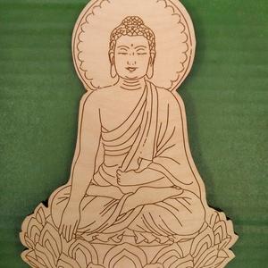 Buddha Lótusz csakra meditáció egyedi , Otthon & Lakás, Dekoráció, Dísztárgy, Gravírozás, pirográfia, Buddha egyedi gravírozott.\n19 cm magas \n, Meska