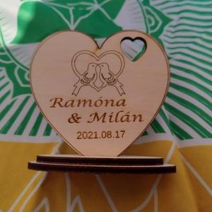 Esküvői köszönő ajándék  köszönet ajándék gravírozott , Otthon & Lakás, Dekoráció, Dísztárgy, Gravírozás, pirográfia, Esküvői köszönő ajándék,  köszönet ajándék, emlék esküvőre a kedves vendégeknek \nStílusos és szép aj..., Meska