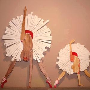 A Balerina, Művészet, Szobor, Fa, Famegmunkálás, Festészet, Balerina - egyedi termék\nA táncművészet angyalai a Balerinák, színpadi mozgásuk és szemet gyönyörköd..., Meska
