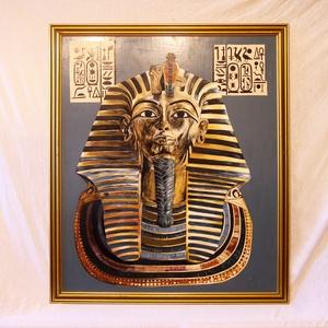Tutanhamon Aranymaszkja   olajfestmény, Művészet, Festmény, Festmény vegyes technika, Festészet, Az alkotás 1993-ban született, az Egyiptomi kultúrának állítva emléket. \nEz a közel harminc éves, ve..., Meska