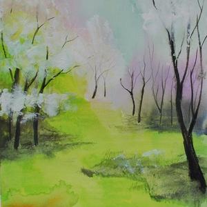 Tavasz, Természet szépsége, akvarell, Otthon & lakás, Képzőművészet, Festmény, Akvarell, Fotó, grafika, rajz, illusztráció, Festészet, Eredeti szignózott akvarell képem, A/4 -es 250g/m2 papíron. Szállítás: bélelt borítékban, kartonnal ..., Meska