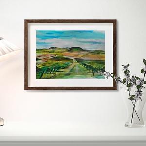 EREDETI akvarell festmény, Tokaj, Haza, Bor, Borászat,, Otthon & lakás, Dekoráció, Képzőművészet, Grafika, Fotó, grafika, rajz, illusztráció, Festészet, Eredeti akvarell festményemet szeretettel ajánlom,hazaszeretőknek, művészet kedvelőknek.\n\n Kiváló mi..., Meska