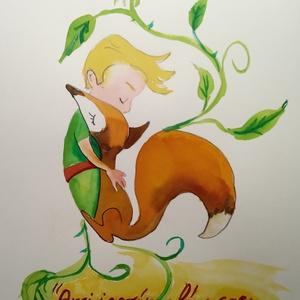 EREDETI akvarell festmény, Kis herceg (romandoramaria) - Meska.hu