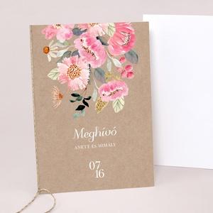 VINTAGE esküvői meghívó, Esküvő, Meghívó & Kártya, Meghívó, Fotó, grafika, rajz, illusztráció, Papírművészet, VINTAGE ESKÜVŐI MEGHÍVÓ (A6 méret) \n\nA meghívó 2 db lapból áll, madzaggal átkötve + tervezési díj NI..., Meska