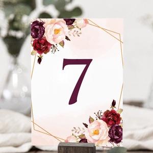VINTAGE asztalszám, Esküvő, Meghívó & Kártya, Menü, Papírművészet, Fotó, grafika, rajz, illusztráció, VINTAGE ASZTALSZÁM (A6 méret) \n\nEgyoldalt nyomtatott 105x148 mm (A6) + tervezési díj NINCS\n- 1 db eg..., Meska