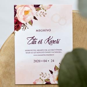 VINTAGE esküvői meghívó, Esküvő, Papírművészet, Fotó, grafika, rajz, illusztráció, Meska