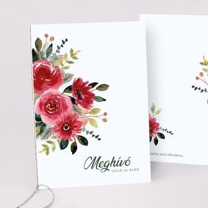 FLOWER esküvői meghívó, Esküvő, Meghívó & Kártya, Meghívó, Fotó, grafika, rajz, illusztráció, Papírművészet, FLOWER ESKÜVŐI MEGHÍVÓ (A6 méret) \n\nA meghívó 2 db lapból áll, madzaggal átkötve + tervezési díj NIN..., Meska