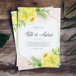 ROMANTIC esküvői meghívó, Esküvő, Papírművészet, Fotó, grafika, rajz, illusztráció, ROMANTIC ESKÜVŐI MEGHÍVÓ (A6 méret, 105x148 mm) \n\nA meghívó 1 db egy oldalon nyomtatott lapból áll +..., Meska