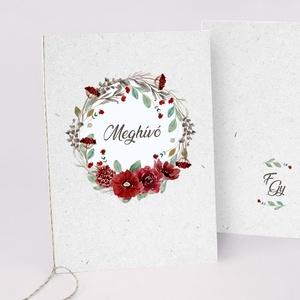 RED esküvői meghívó, Esküvő, Meghívó & Kártya, Meghívó, Fotó, grafika, rajz, illusztráció, Papírművészet, Meska