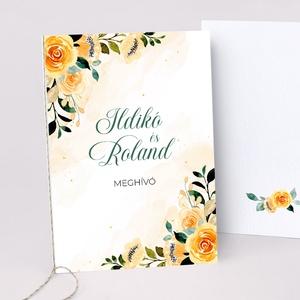 YELLOW esküvői meghívó, Esküvő, Meghívó & Kártya, Meghívó, Fotó, grafika, rajz, illusztráció, Papírművészet, YELLOW ESKÜVŐI MEGHÍVÓ (A6 méret) \n\nA meghívó 2 db lapból áll, madzaggal átkötve + tervezési díj NIN..., Meska