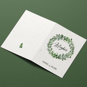 GREENERY esküvői meghívó - Meska.hu