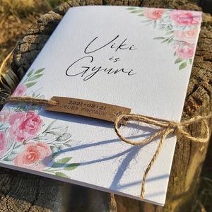 VINTAGE esküvői meghívó, Esküvő, Meghívó & Kártya, Meghívó, Fotó, grafika, rajz, illusztráció, Papírművészet, VINTAGE esküvői meghívó (mérete: 130x180 mm összehajtva) \n\nA meghívó 2-féle méretű (matt és texturál..., Meska