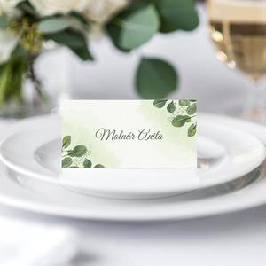 GREENERY ültetőkártya, Esküvő, Papírművészet, Fotó, grafika, rajz, illusztráció, Meska