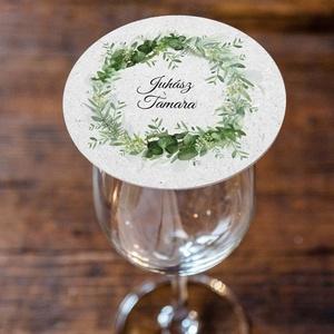 GREENERY poháralátét, Esküvő, Dekoráció, Papírművészet, GREENERY poháralátét\n\nA poháralátét 110 mm átmérőjű kör.\nPrémium minőségű matt / matt és texturált /..., Meska