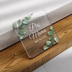 GREENERY poháralátét (plexi / akril), Esküvő, Fotó, grafika, rajz, illusztráció, Meska