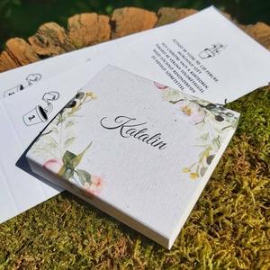 FLOWER SEED köszönőajándék (zero waste), Esküvő, Dekoráció, Papírművészet, FLOWER SEED köszönőajándék (zero waste)\n\nPapír virág személyre szabott grafikával és szövegezéssel n..., Meska