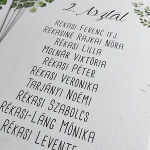 GREENERY ültetési rend - esküvő - Meska.hu