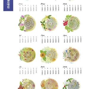 Falinaptár 2021  Akvarell  Mandala A3, Otthon & Lakás, Dekoráció, Falinaptár & Öröknaptár, Festészet, Fotó, grafika, rajz, illusztráció, 2021-es falinaptár 12 különböző saját készítésű akvarell festménnyel + borító, strukturált kreatív p..., Meska
