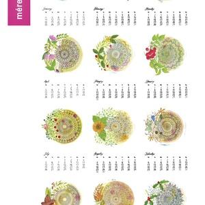 Falinaptár 2021  Akvarell  Mandala A4, Otthon & Lakás, Dekoráció, Falinaptár & Öröknaptár, Festészet, Fotó, grafika, rajz, illusztráció, 2021-es falinaptár 12 különböző saját készítésű akvarell festménnyel + borító strukturált kreatív pa..., Meska