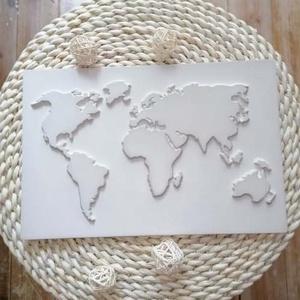 Egyedi világtérkép, Kép & Falikép, Dekoráció, Otthon & Lakás, Kerámia, Mindenmás, Szeretsz utazni ? Azt hiszem ez a tökéletes kép számodra amivel feldobhatod a szobádat :)\nMinimalist..., Meska