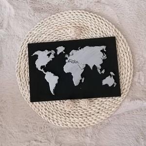 Egyedi Beton Világtérkép, Kép & Falikép, Dekoráció, Otthon & Lakás, Mindenmás, Szeretsz utazni ? Azt hiszem ez a tökéletes kép számodra amivel feldobhatod a szobádat :)\nMinimalist..., Meska