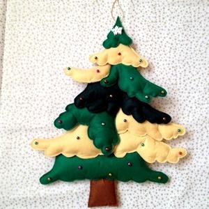 Karácsony júliusban- fenyőfa - dekoráció, Karácsony, Karácsonyi lakásdekoráció, Karácsonyi lakásdíszek, Varrás, Meska