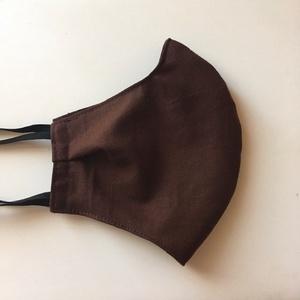 Csoki barna /  arcmaszk ( felnőtt méret), Egyéb, Varrás, Arcmaszk csoki barna színű anyag, bélése megegyező.\nA gumi a fül alatt és fölött fut körbe a fejen,k..., Meska