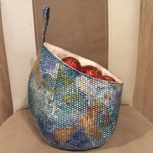 Különleges -Buborék formájú textil tároló, Otthon & Lakás, Dekoráció, Varrás, Meska