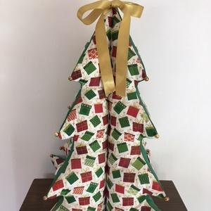 Karácsony júliusban - 3 D fenyőfa / lakásdísz, Karácsony, Karácsonyi lakásdekoráció, Karácsonyi lakásdíszek, Varrás, Meska