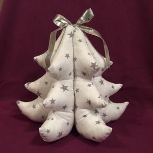 Karácsony júliusban -Csillagmintás fenyőfa 3 D kialakítás, Karácsony & Mikulás, Karácsonyi dekoráció, Varrás, Meska
