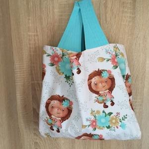 Őszi hangulat -Süni lány mintás  - bevásárló szatyor/ élelmiszer táska, Táska & Tok, Bevásárlás & Shopper táska, Varrás, Meska