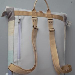 Gigacampus -csíkos pasztell hátizsák laptoptartóval (rozizu) - Meska.hu