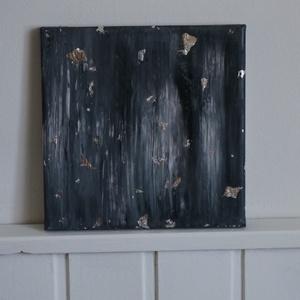 Absztrakt akril festmény - 20x20cm-es, Művészet, Festmény, Akril, Festészet, Ez az absztrakt akril festmény, ezüstpapírral feszített vászonra készült.\nMérete: 20x20cm\n\nEredeti, ..., Meska