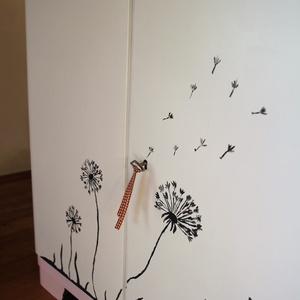 Pitypangos komód - kézzel festett mintával (rozsakert22) - Meska.hu