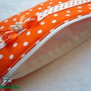 Narancs pöttyös neszeszer (20x10cm) (rozsamoni) - Meska.hu