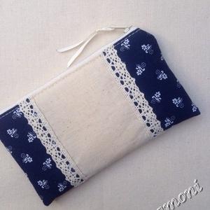 (8x14 cm) Kékfestő mobiltok,  nesszeszer vagy pénztárca + 1db kulcstartó (rozsamoni) - Meska.hu