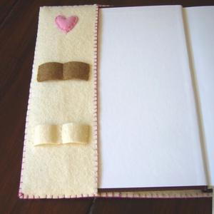 Napló vagy receptes füzet filc borítóval (rozsamoni) - Meska.hu
