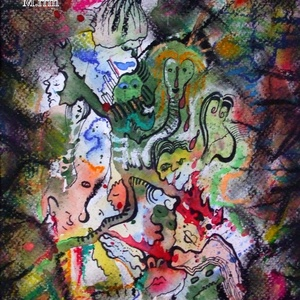 Eltévedt mesehősök, Karácsony & Mikulás, Fotó, grafika, rajz, illusztráció, Festészet, Akvarellfestékkel, filccel és pasztellkrétával készült. \n\nMérete: 23,7x18 cm, Meska