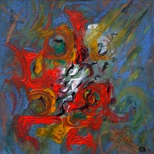 Tűzvirág - festmény, Művészet, Festmény, Akvarell, Fotó, grafika, rajz, illusztráció, Festészet, Akrilfestékkel és krétával készült.\n\nMérete: 24,5x23,5 cm\n\n\n\n_______________________________________..., Meska