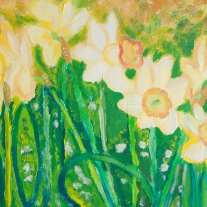 Nárcisz - festmény, Művészet, Festmény, Festészet, Ezt a képet temperával készítettem.\n\nMérete: A4\n\n\n\n_________________________________________________..., Meska